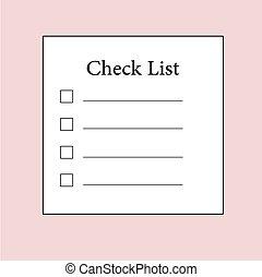 Checklist icon vector symbol illustration design