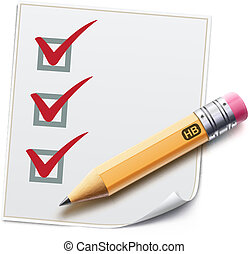 checklist - Vector illustration of a checklist with a...