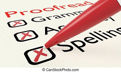 Checklist of proofreading characteristics grammar accuracy ...