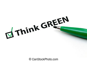 Checklist option for think green