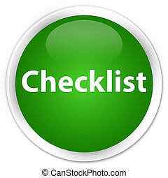 Checklist premium green round button