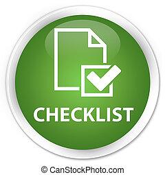 Checklist premium soft green round button