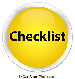 Checklist premium yellow round button