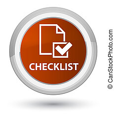 Checklist prime brown round button