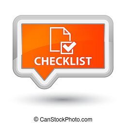 Checklist prime orange banner button