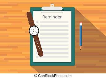 checklist, przypomnienie, clipboard