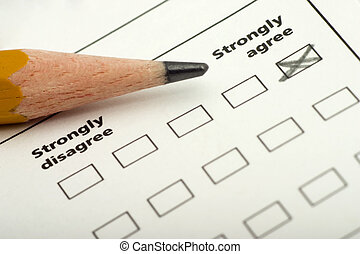 strongly agree - checklist, questionnaire with strongly ...