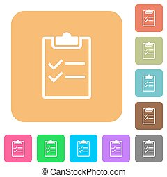 Checklist rounded square flat icons