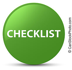 Checklist soft green round button