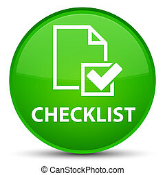 Checklist special green round button