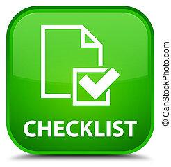 Checklist special green square button
