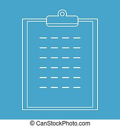 Checklist thin line icon