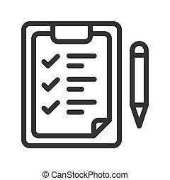 Checklist vector icon