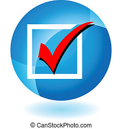 Checklist web button isolated on a background