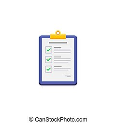 Checklist - White Background icon vector isolated.