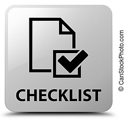 Checklist white square button
