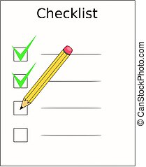 Checklist with a pencil checking off tasks  left-handers