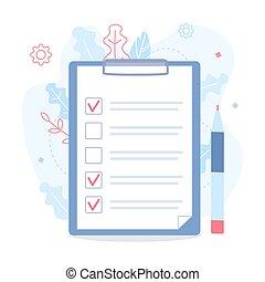 Checklist with tasks