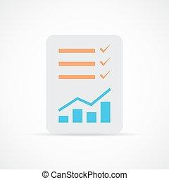 checklista, illustration., ikon