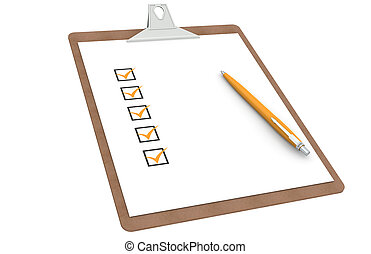 checklista, skrivplatta