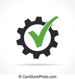checkmark, 齿轮, 图标