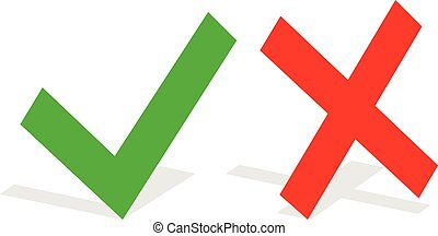 Checkmark and cross icon