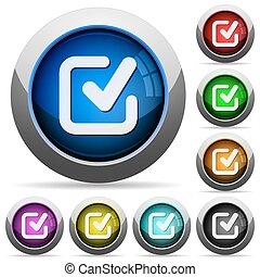 Checkmark button set