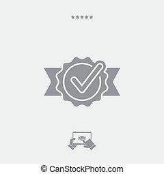Checkmark cockade flat icon