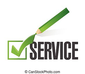 checkmark, conception, service, illustration