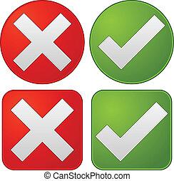checkmark, croix, graphiques