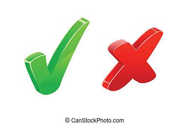 Checkmark Cross Mark Icons