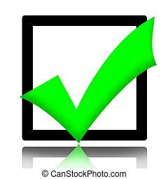 Checkmark - Green checkmark symbol illustration isolated...