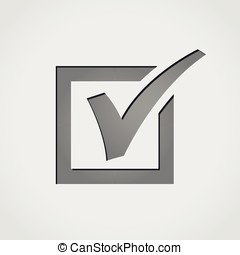 checkmark grey icon