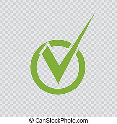 checkmark, groene, icon.