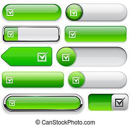 Checkmark high-detailed web button collection.