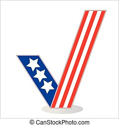 Checkmark icon pattern US flag