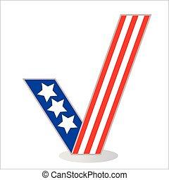 Checkmark icon pattern US flag