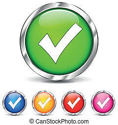 checkmark icons - vector illustration of checkmark icons on...
