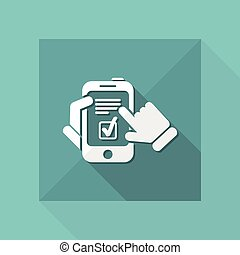 Checkmark menu on smartphone