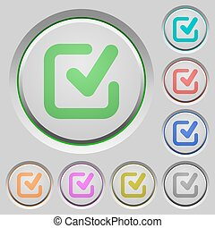 Checkmark push buttons