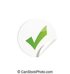 Checkmark Sticker