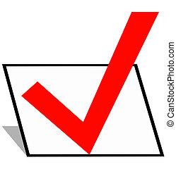 Checkmark - a checkmark in a black box