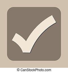 checkmark, vector, signo bueno, icono