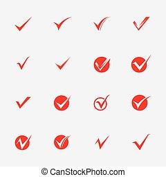 Checkmark vector template logo