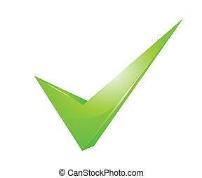 checkmark, verde
