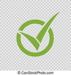 checkmark, vert, icon.