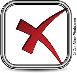 checkmark, vettore, negativo