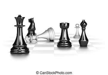 Checkmate, Business Strategy Concept - Chess game with the...
