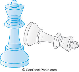 check mate with king lying and queen standing