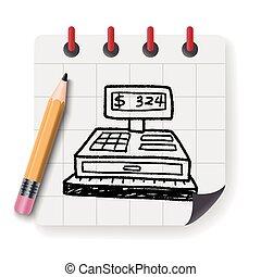 Checkout Machine Doodle